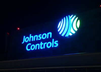 Johnson Controls Illuminated Channel Letters