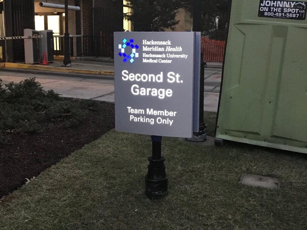 Hackensack Meridian Health Hospital Exterior Signs
